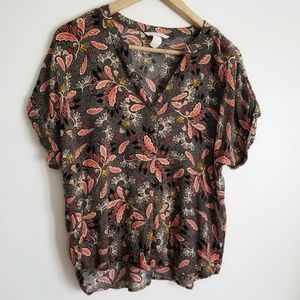 H&M short sleeve summery blouse